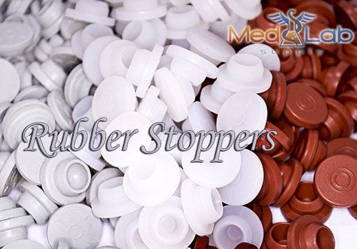 13mm Rubber Stoppers (for 2ml Open Vials)