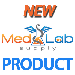two tone blue flip top seal by med lab supply